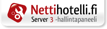 Hallintapaneeli: server3.nettihotelli.fi